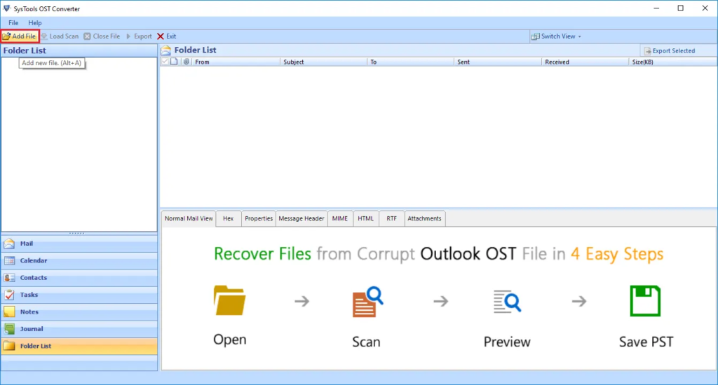 Download and Install the OST to PST converter software