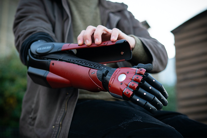 3D printed bionic prosthetic arm by Open Bionics and Konami