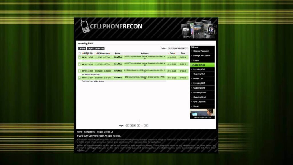 What is Cell Phone Recon & Its Login