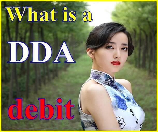 What is a DDA debit?
