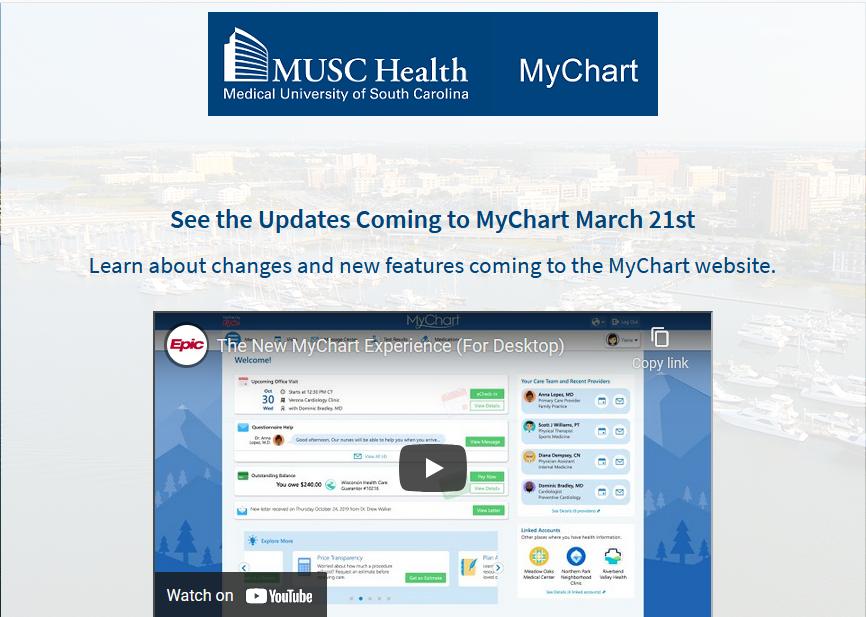 Mychart - login page