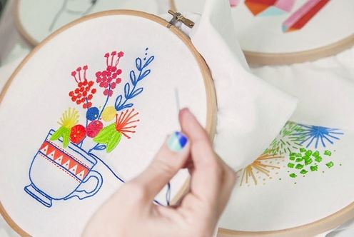 How to hand embroidery
